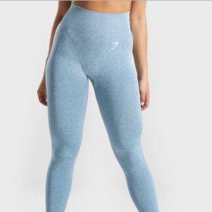 Gymshark Vital Seamless Leggings in Teal Marl
